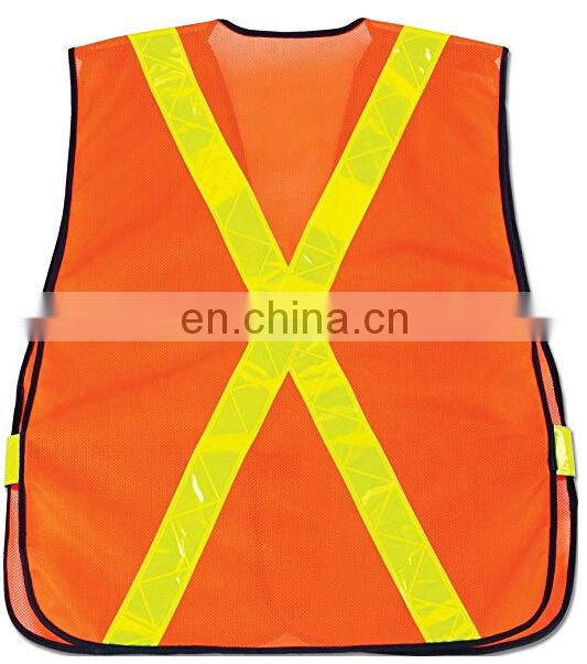 Protective breakaway reflective mesh vest with PVC tapes