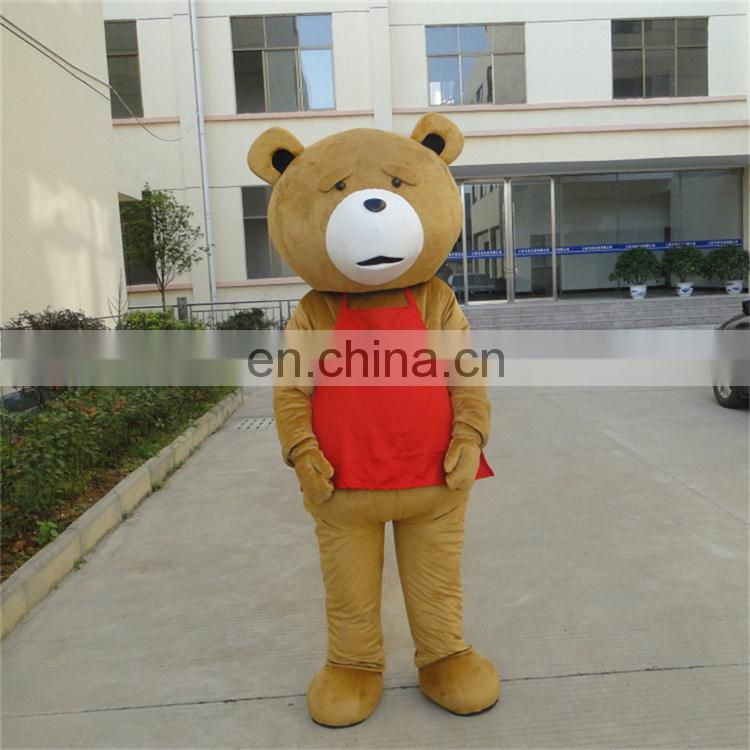 100% handmade hot sale customized teddy bear mascot costume for adults