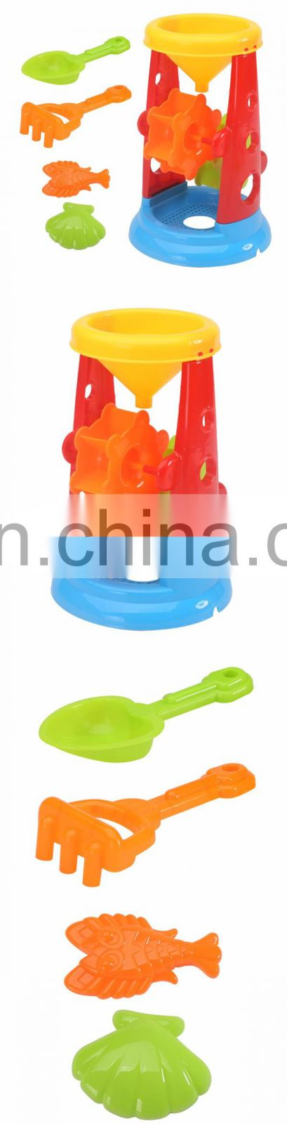 Plastic hourglass sand beach toy set for children