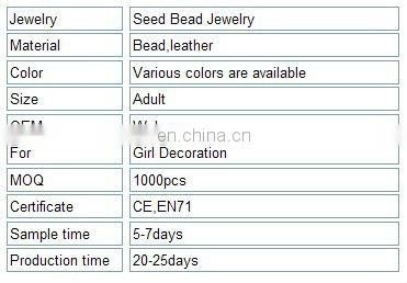 New Style Fashion Handmade Seed Bead Jewelry