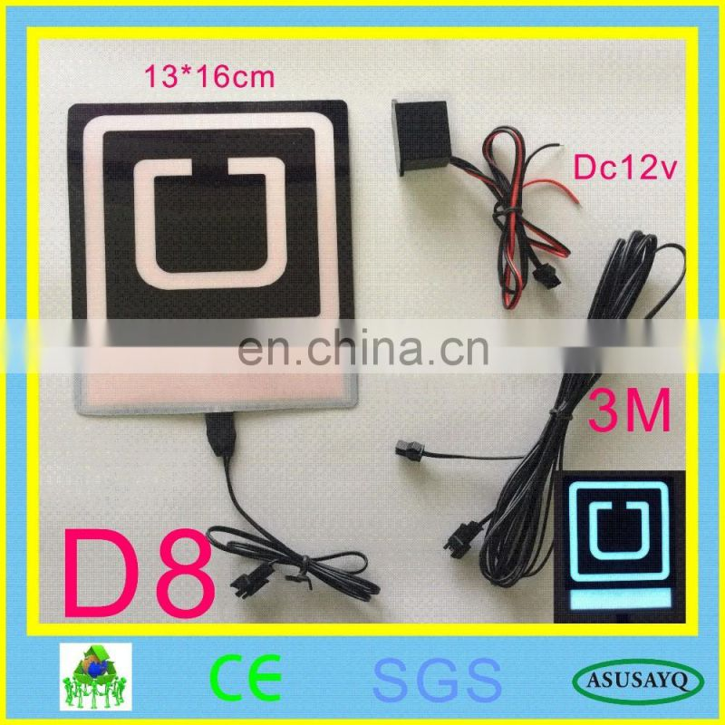 Uber, Uber EL Backlight, EL Panel + 3V Inverter+ Free Shipping NEW UBER NEW LYFT