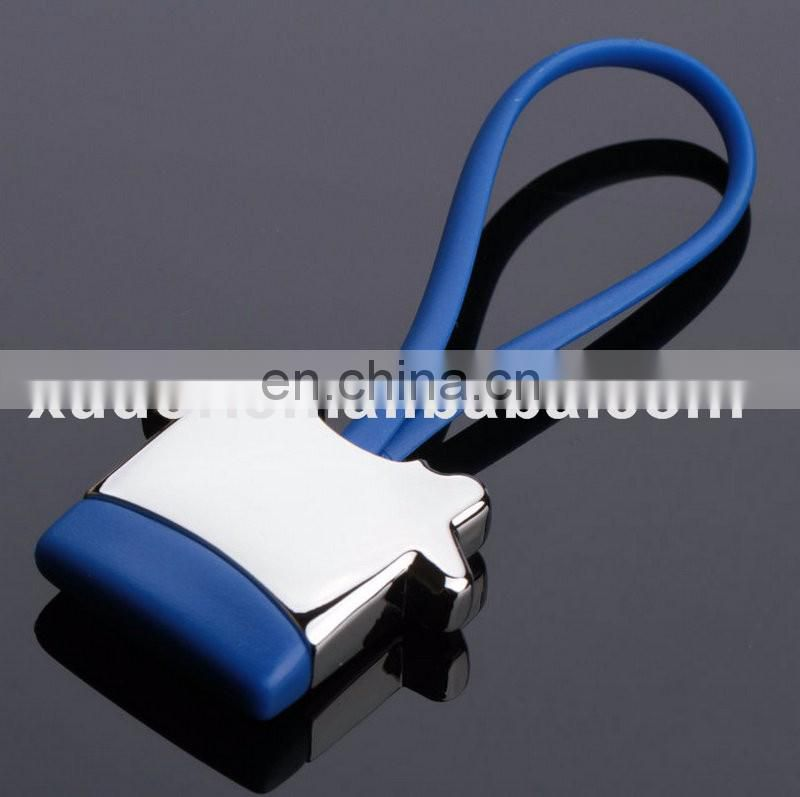 Best advertising gifts different color house shape rubber keychain
