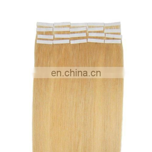 Top quality bright color tape on hair extensions straight