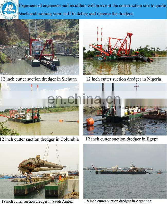 Big production sand dredging machine in river