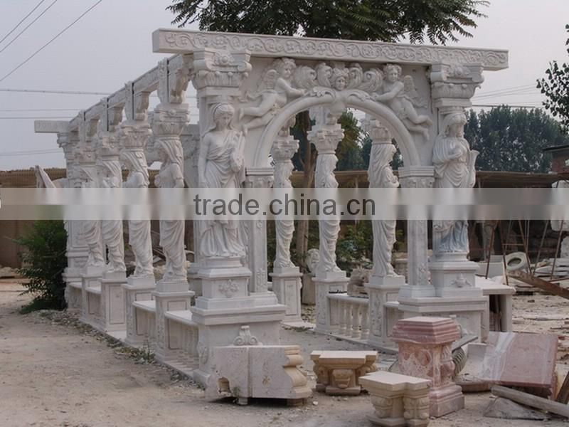 hand carved outdoor roman column gazebo marble gazebo for sale NTMG-275S