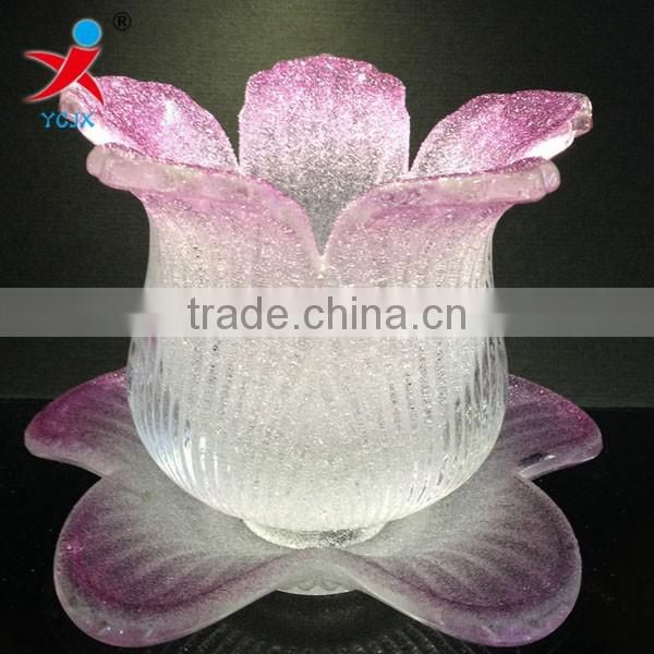 Machine of extruded glass lamp shade/creative pastoral floriated droplight glass lamp shade, light fittings lamp shade