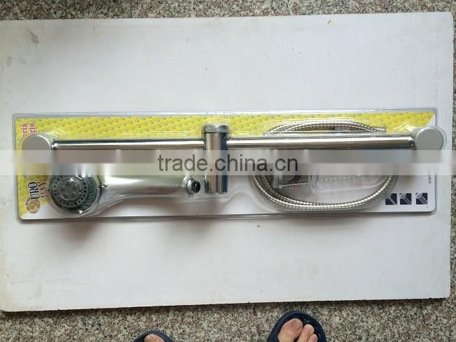 hot sell abs + stainless steel shower head with hose and base