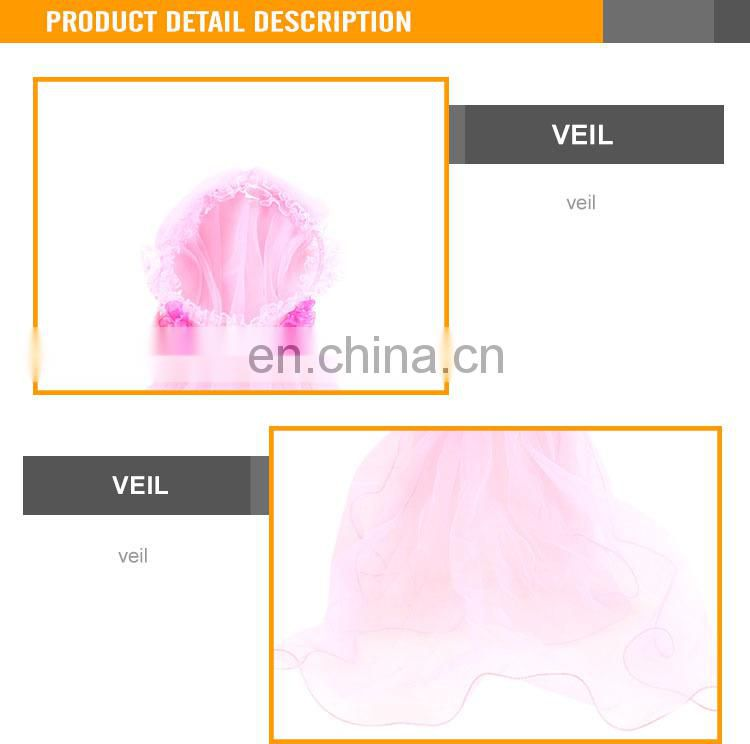 Cheaper Wholesale Beauty Play Set Party Supplies For Kids Veil SizeL