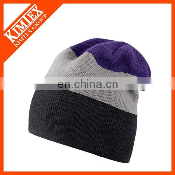 2017 Wholesale custom winter acrylic knitted hat