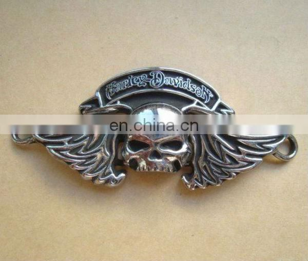 brand new bronze winged skull belt buckle