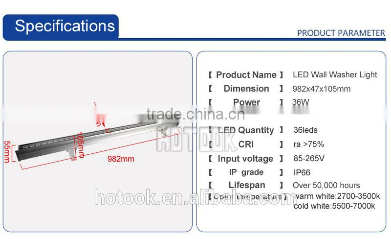 china supplier 36w led wall washer light