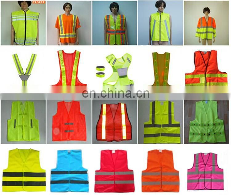 Best price fluorescent green LED light flashing safety vest