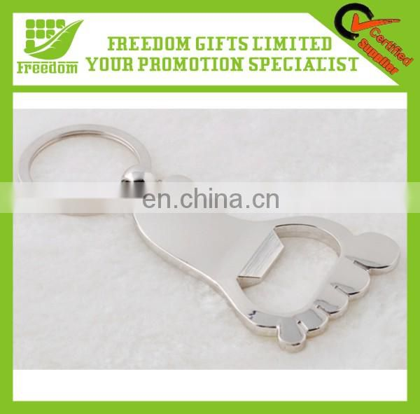 Hot New Promotional Various Shape Metal Foot Shape Bottle Opener