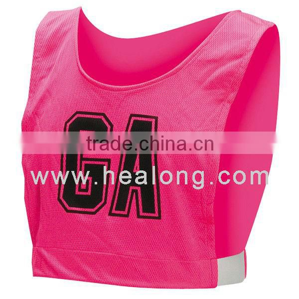 Custom sublimated Netball Bibs cool pass wear