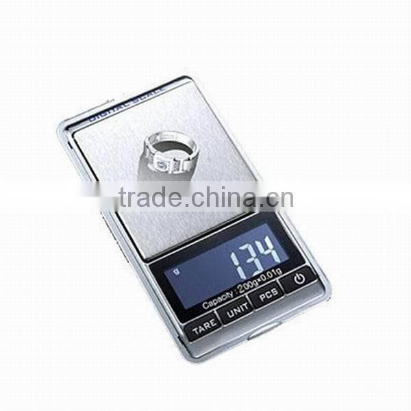 200g x 0.01 Pocket Scale High precision Portable Digital Jewelry Weighing Scale
