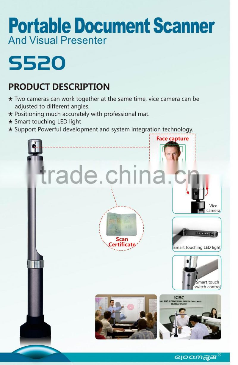 Portable document scanner for banking , portable ID card scanner