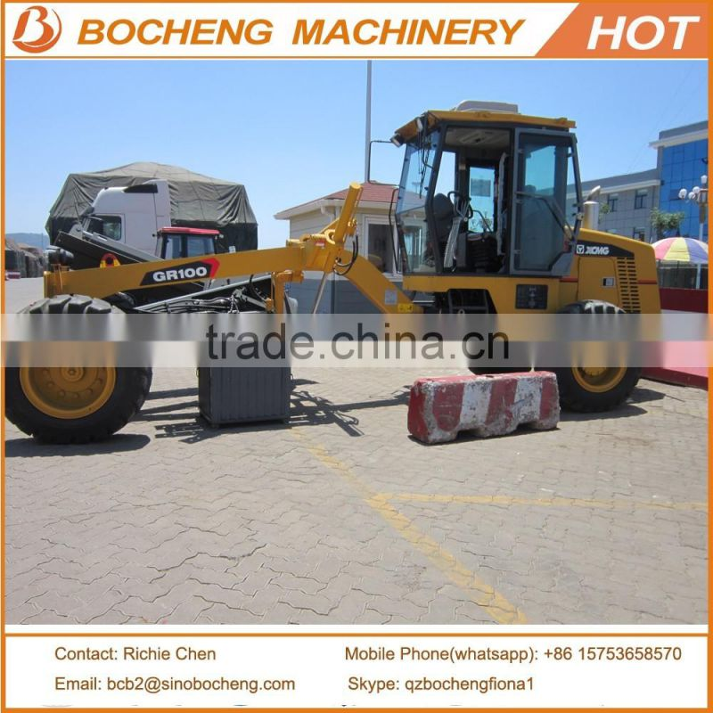 Chinese Small Motor Grader 100HP XCMG GR100 For Sale of