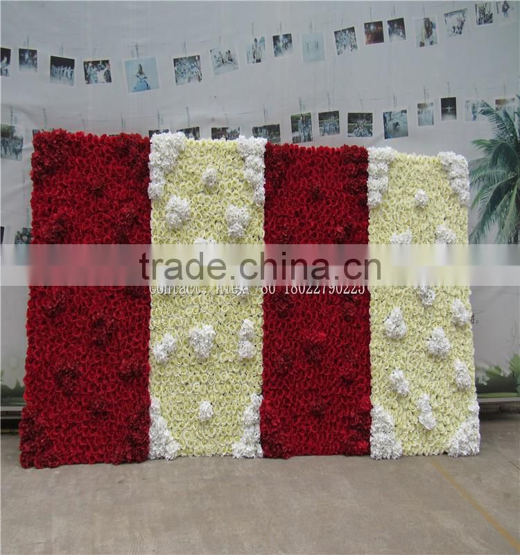 SJ0062204 Hot sale artificial artificial flower wall for weeding decoration