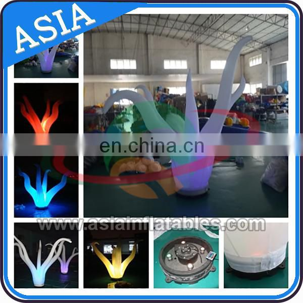 Wholesale White Inflatable Light Decoration Cylinder ; Decorative Pillars And Columns For Wedding