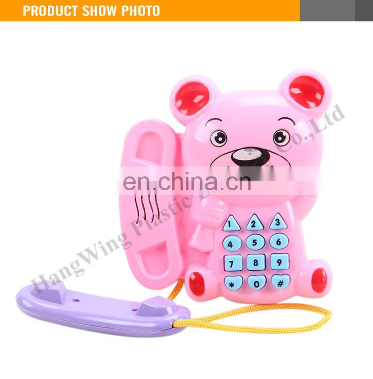 Lovely Musical Plastic Baby Mobile Phone Toys