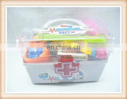 New product Plastic kids pretend hospital play set doctor toy