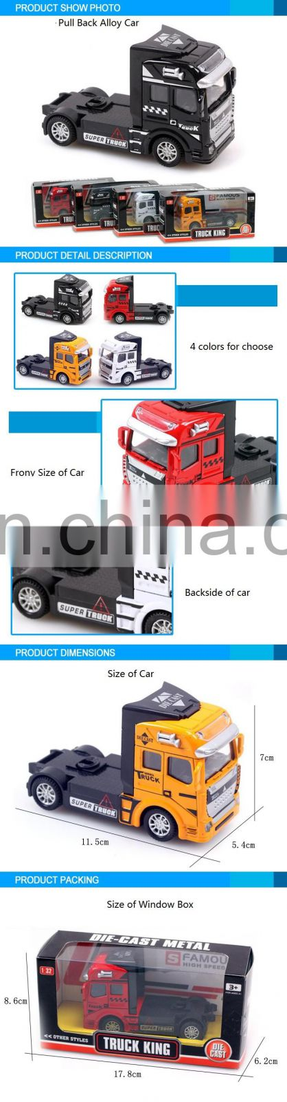 New Design 11.5CM Diecast toy pull back truck car toy die cast truck