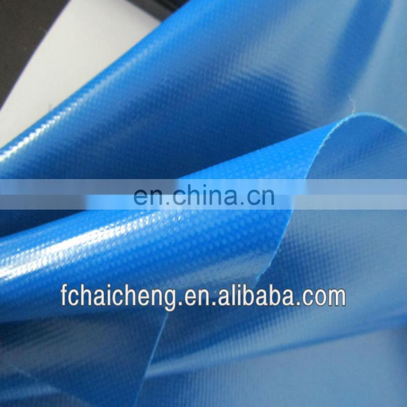 Pvc Tarpaulin,Tent Material,Waterproof Outdoor Plastic Cover,Blue Poly Tarp,Hdpe Fabric Image