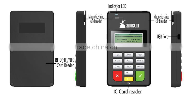 Safe and Reliable mini ic chip card reader/writer of Mpos