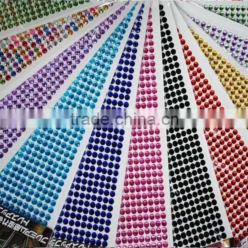 DIY acrylic crystal stickers / rhinestone car sticker sheets /diamond crystal bling car sticker
