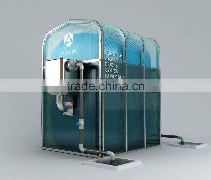 China assembly home biogas plant for biogas making machine