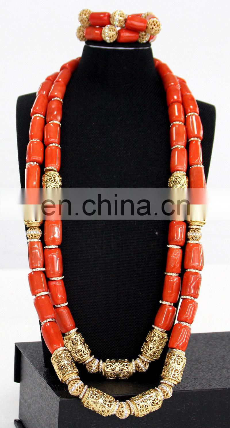 Handwork design Costume African Jewelry Sets High Quality Fashion Jewelry for African wedding and party