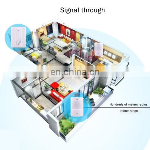 high tech 1 to 2 Good Safe Wireless Electro Guard Watch Remote Detective System for Home Office, 1 x Receiver + 2 x Detector