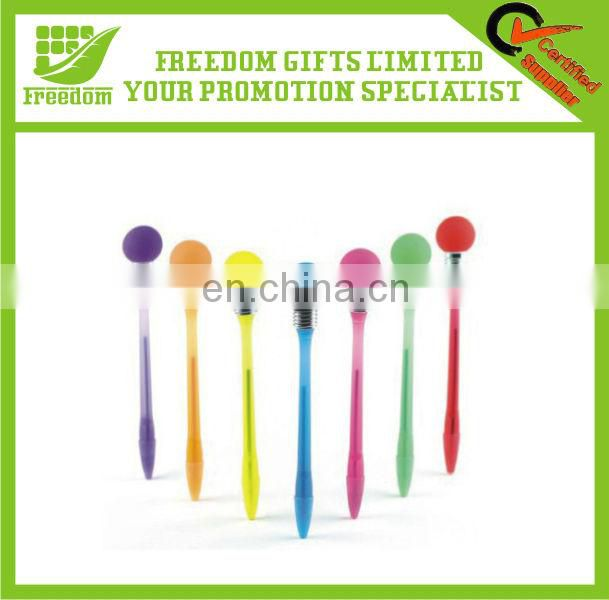 Personalized Promotional Light Up Bulb Ball Pen