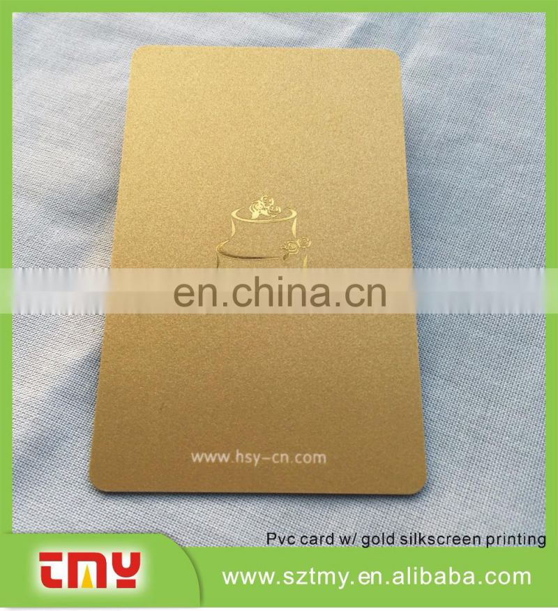 15 years professional manufacturer Plastic PVC magnetic card with silk screen