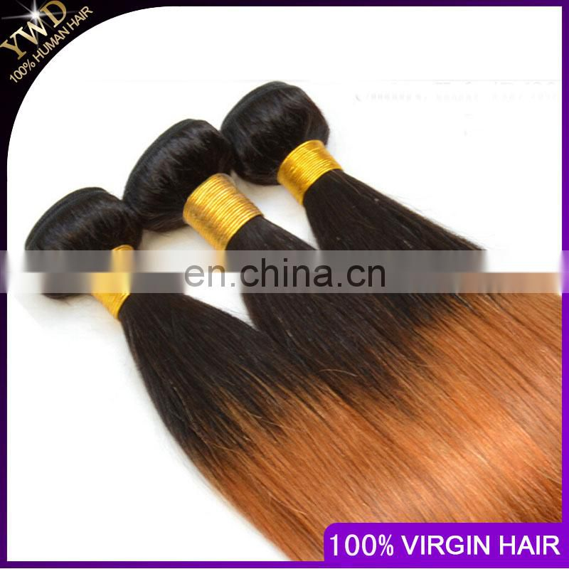 7 Ombre Brazilian Hair Two Tone Virgin Brazilian Hair 3 Bundles 1B 30 Brazilian Straight Ombre Hair