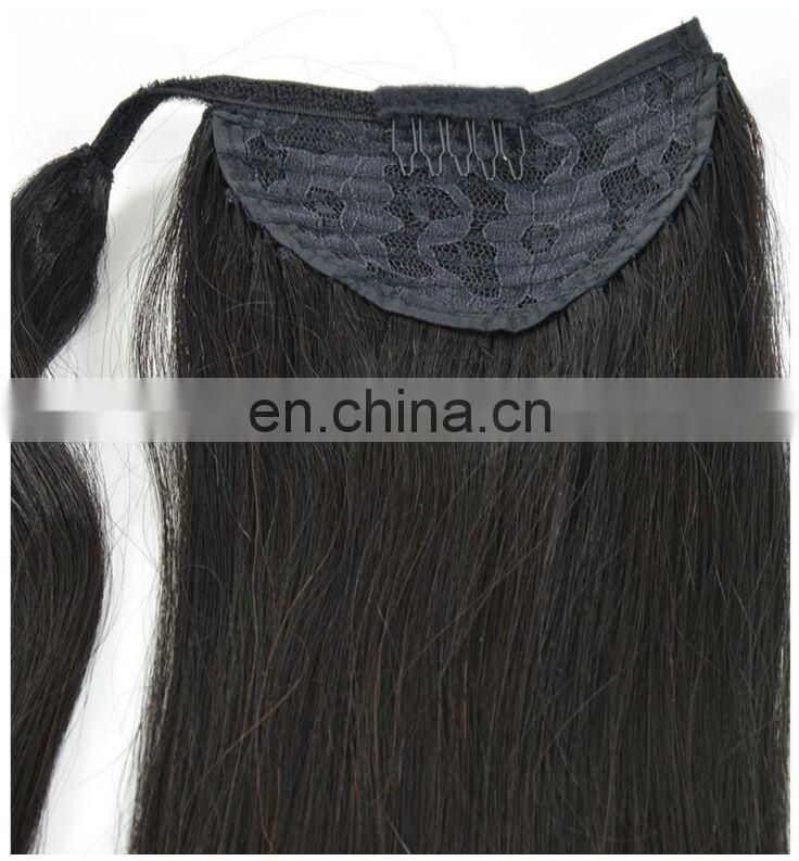 Professional Excellent Quality Brazilian Curly Afro Kinky Straight Hair Drawstring Ponytail For Black Women