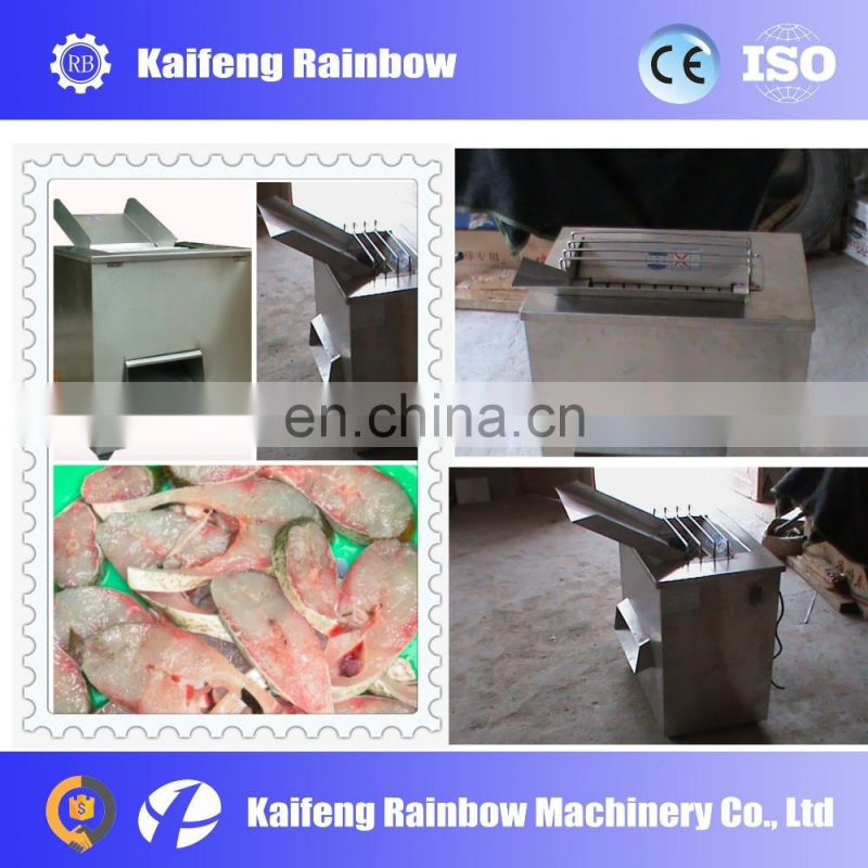 Commercial CE approved Automatic fish fillet cutting machine for fresh and half frozen fish