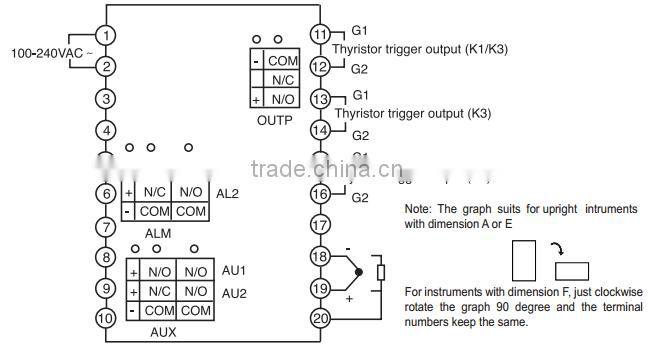 Yudian Ai 508 Digital Manual Tuning Color Temperature Controller