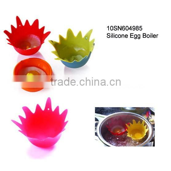 Easy clean single cup 100% food grade silicone egg cooker