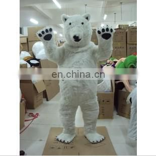 supplying cartoon plush adult white bear costume