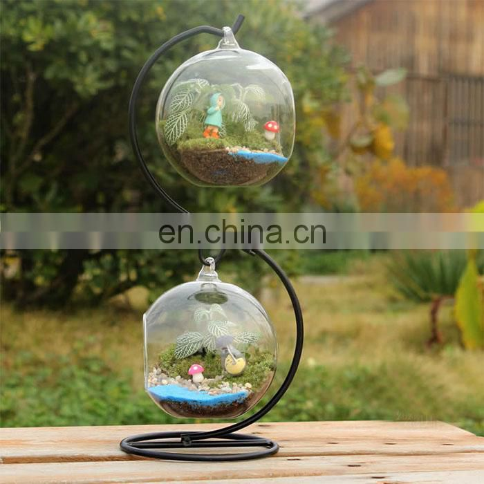terrarium glass terrarium metal frame globe ball terrarium Planters Container Glass Flower Vase