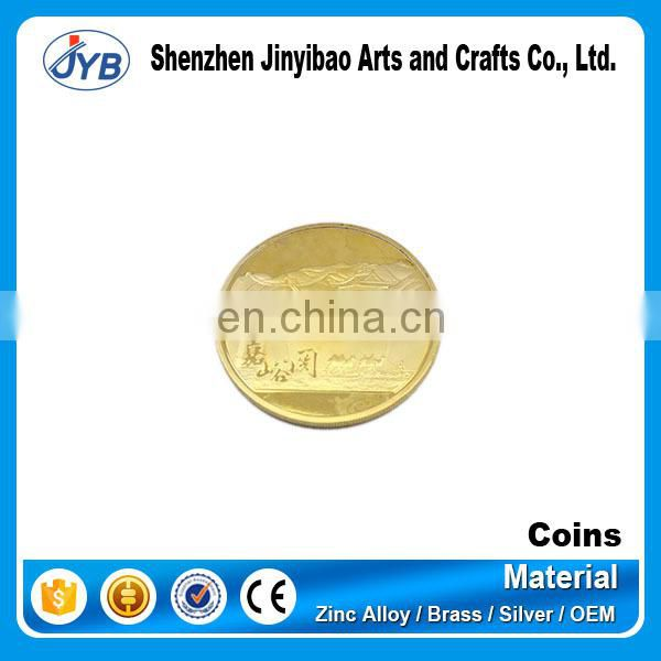 high quality metal replica 18k gold coin