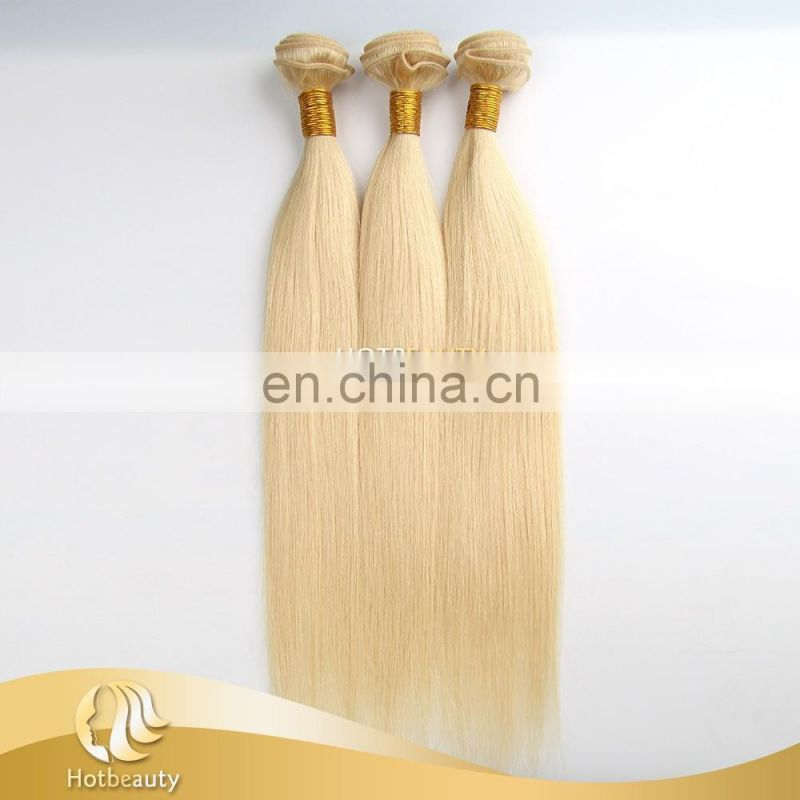 Blonde Chinese Virgin Human Hair Micro Ring Hair Extension #613 Color