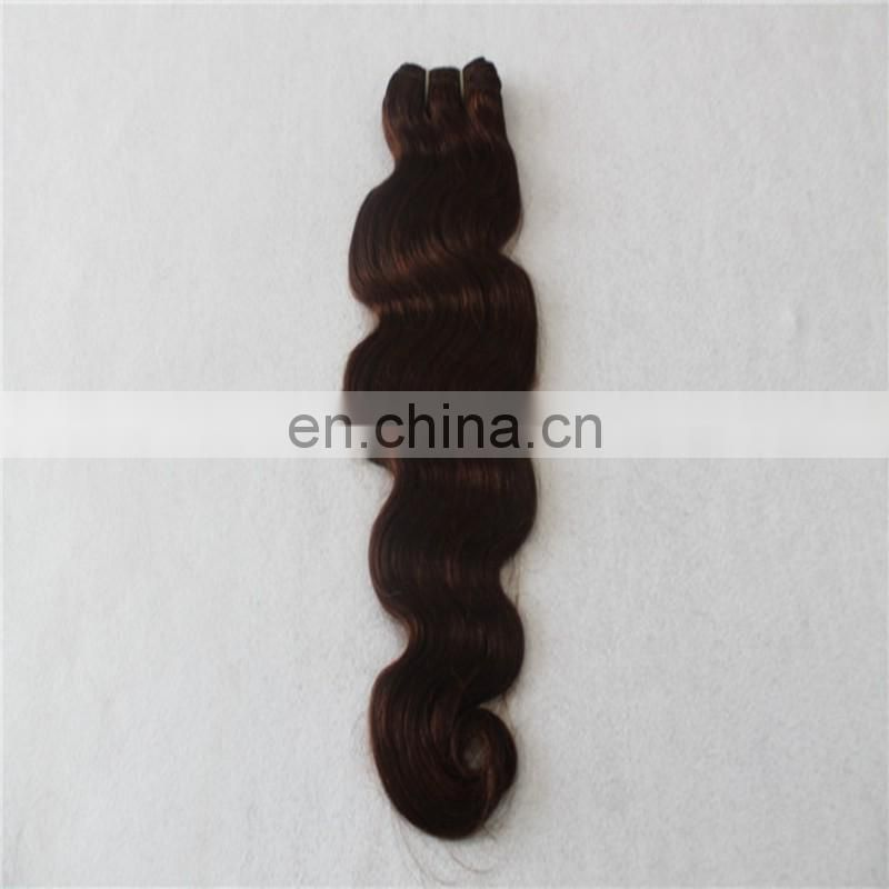 Wholesale price double drawn human hair weave dark brown color body wave remy peruvian hair extensions