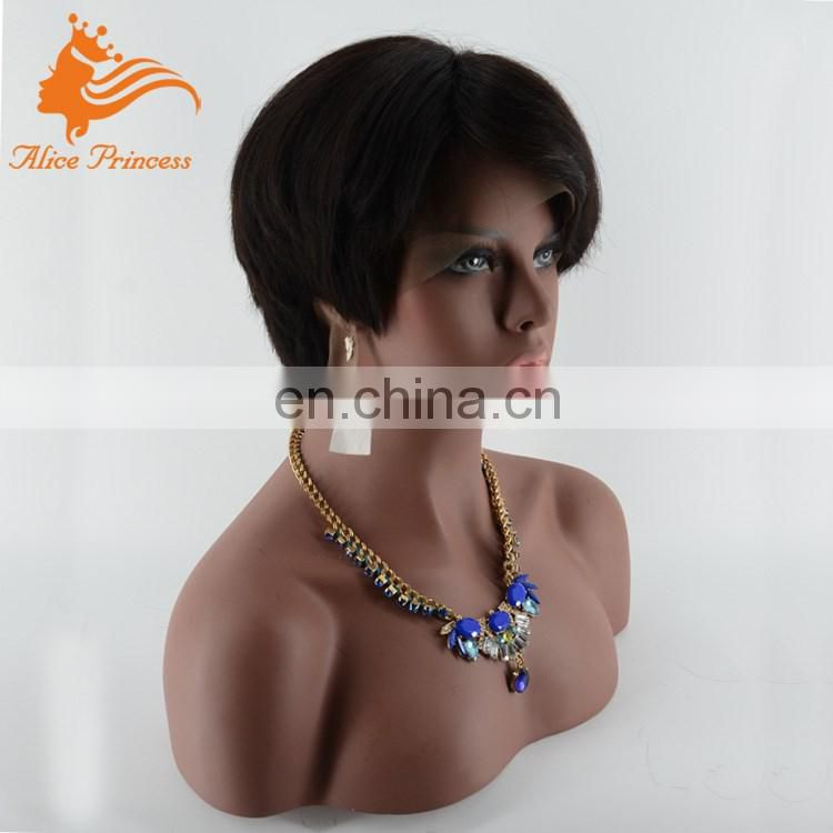 Short Style Hot 7A Grade Manufacturer Supply Virgin Human Hair Indian Lace Front Wigs 8 Inches Bob Wig