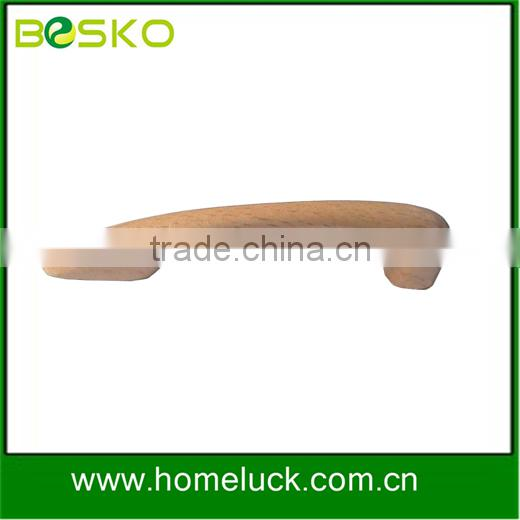 Furniture hanrdware door pull handle woodn beech for furniture