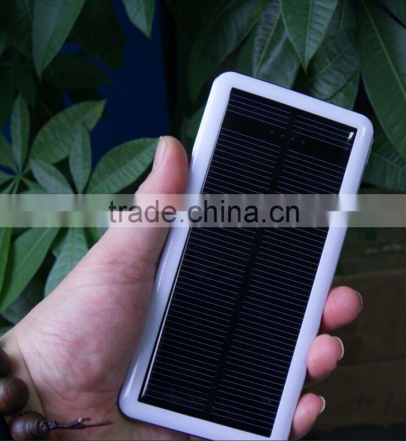Wholesales Hot Sales Dual USB Universal Solar Charger 20000mAh Solar Power Bank For Mobile Phone and USB Devices