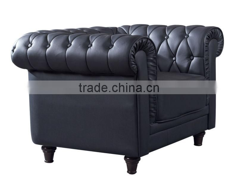 antique leather button modern royal sofa (EOE brand)