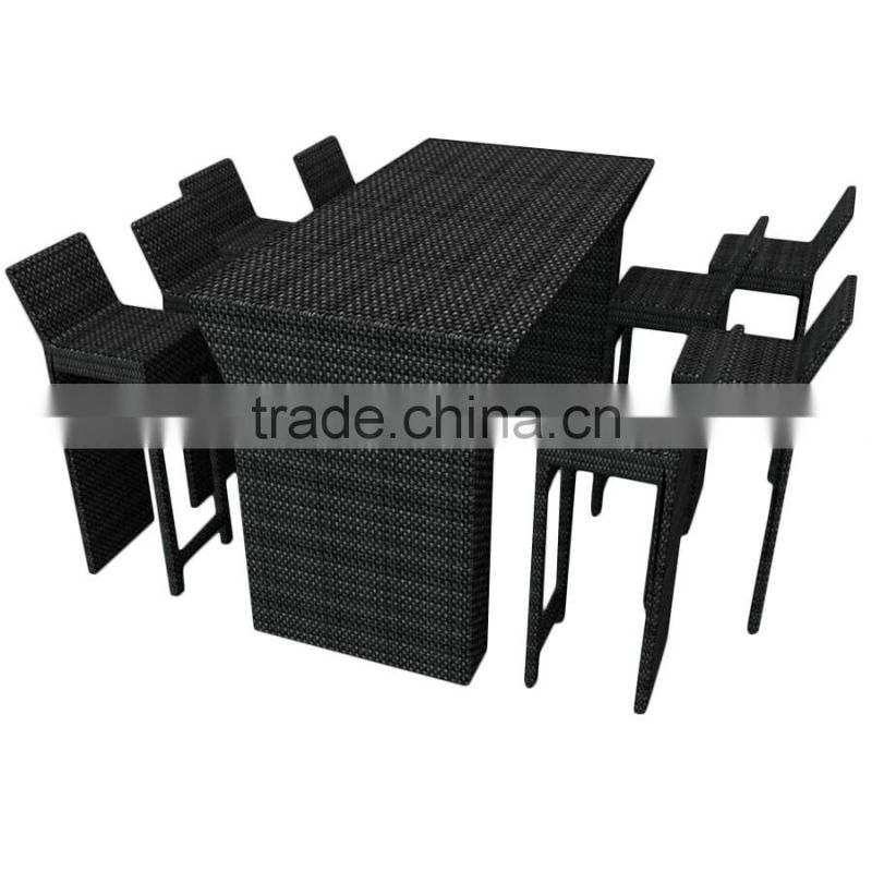 Outdoor Rattan Bar Table And Chair For Sale