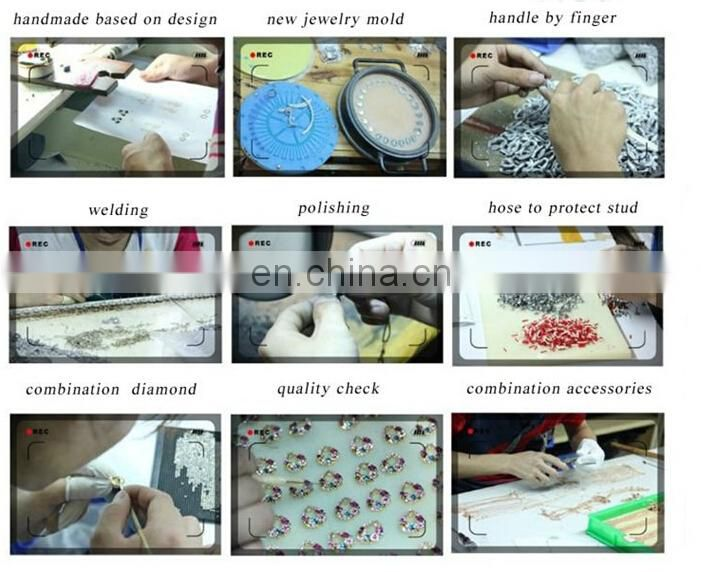 Personalized crystal Makeup Mirror wedding gift hand mirror for ladies